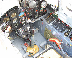 Kokpit lietadla L-29 Delfín č. 3228